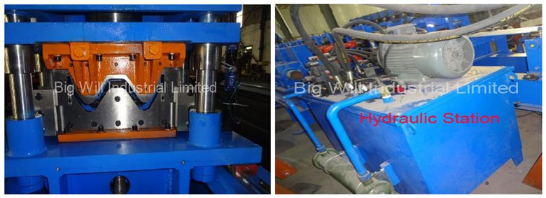 highway safety barrier forming machine